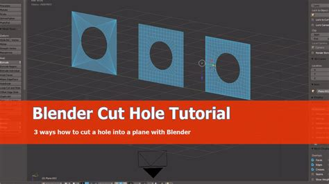 How to cut a hole in object using Blender | CGTrader