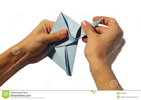 Hands Making Origami Royalty Free Stock Photos - Image