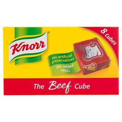 Knorr The Beef Cube Stock Cubes (8 x 10g) British | eBay
