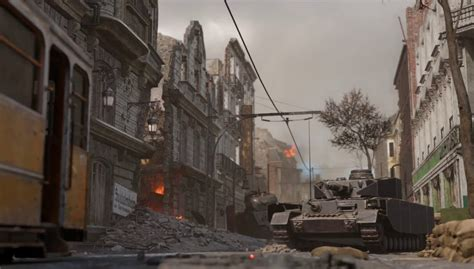 Call of Duty: WWII Aachen Multiplayer Map Flythrough