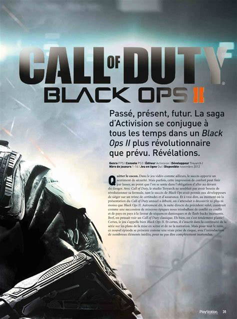 Official Call of Duty Black Ops II Scans detailed by