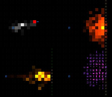 ASCII Particle Effects - Cogmind / Grid Sage Games