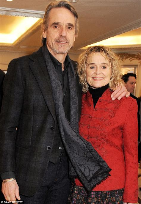 Jeremy Irons seen on a rare public outing with wife Sinead