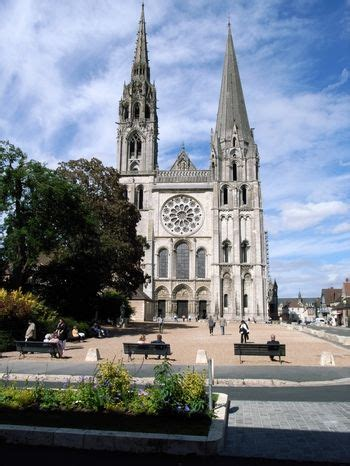 Chartres Cathedral in the medieval town of Chartres, about