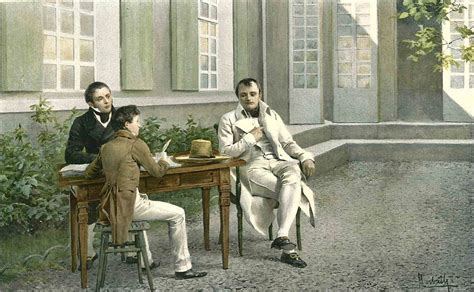 Napoleon Dictating his History at Saint Helena, from the