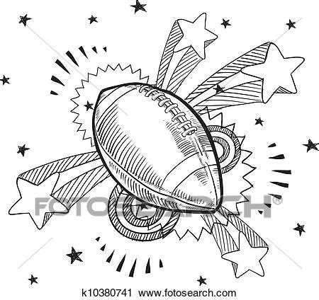 Clipart of Pop American football sketch k10380741 - Search