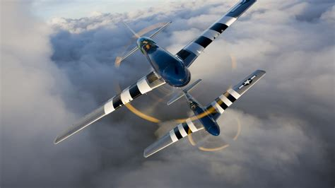 Wallpaper North American P-51 Mustang, fighter, US Army