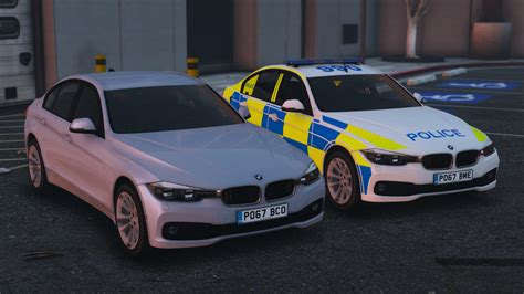 2017 Police BMW 330D Saloon Pack [Replace | ELS] - GTA5