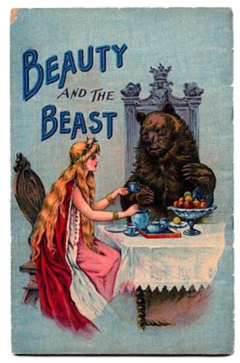 Vintage Fairy Tale Clip Art - Beauty and the Beast 2 - The