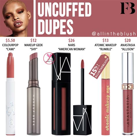 Fenty Beauty Uncuffed Stunna Lip Paint Dupes - All In The