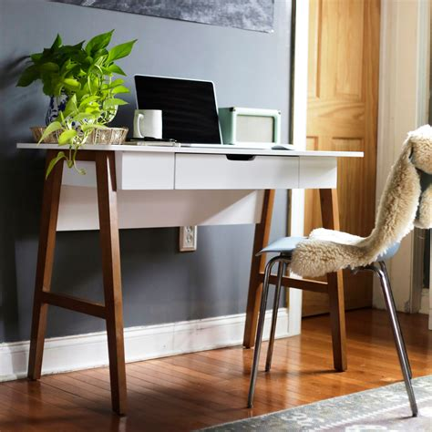 Nathan James Telos Home Office Computer Desk with Drawer