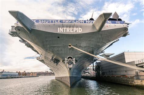 Navy Ship USS Intrepid In New York Editorial Photography