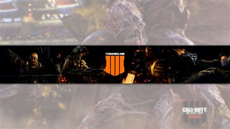 Call of Duty: Black Ops 4 YouTube Channel Art Banner