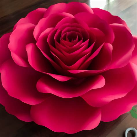 SVG-DXF A4 XL Rose Paper Flower Template Diy Cricut and