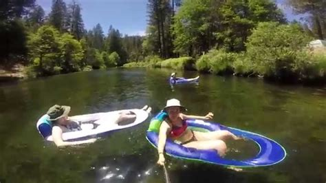 Floating the Merced River Wawona campground 2015 - YouTube
