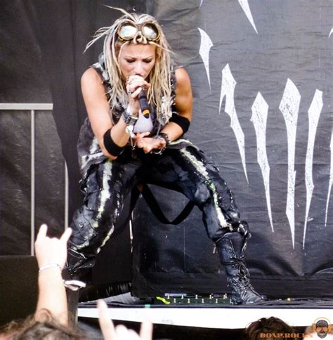 Jackie LaPonza of UnSaid Fate with Mushroomhead at Chicago