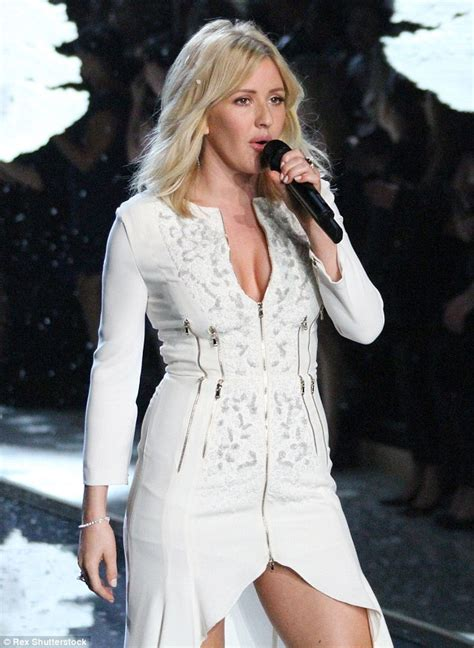 Ellie Goulding stuns in sexy white dress for Victoria's