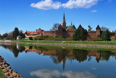 Nymburk, the city walls and the church of St