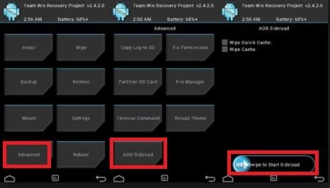 Correct Method To Flash Firmware With Sideload Or Recovery