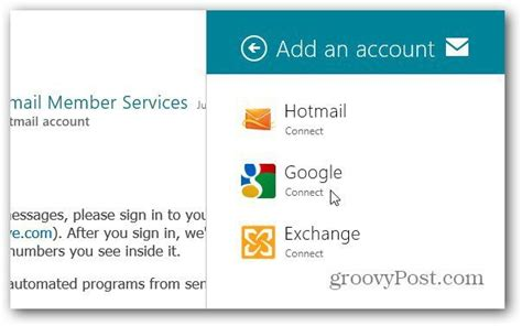 Windows 8 Metro: How To Add Email Accounts
