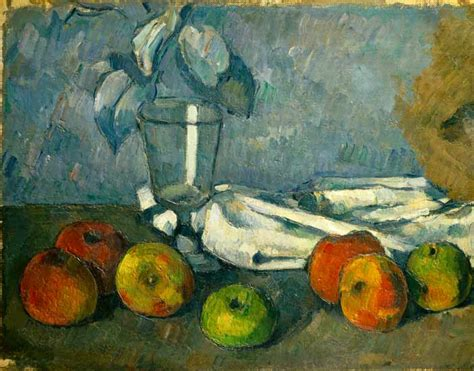 Glass and apples - oil painting of Paul Cézanne as art